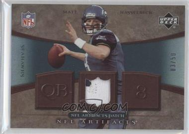 2007 Upper Deck Artifacts NFL Artifacts Patch #NFL-MH - Matt Hasselbeck /50