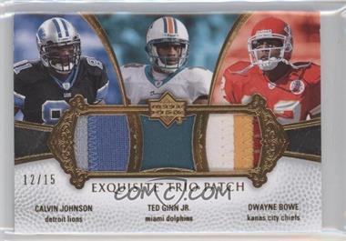 2007 Upper Deck Exquisite Collection - [???] #ETP-JGB - Calvin Johnson, Ted Ginn, Dwayne Bowe /15