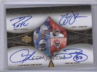Philip Rivers, Larry Johnson, LaDainian Tomlinson, Dwayne Bowe /10 [Near M…