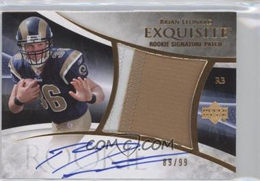 2007 Upper Deck Exquisite Collection Parallel 1 #116 - Brian Leonard /99
