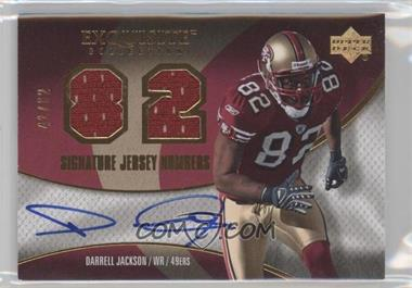 2007 Upper Deck Exquisite Collection Signature Jersey Numbers #SJN-DJ - Darrell Jackson /82