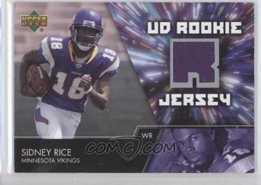 2007 Upper Deck UD Rookie Jersey #UDRJ-SR - Sidney Rice