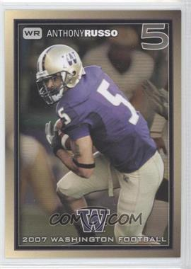 2007 Washington Huskies Team Issue #ANRU - Anthony Russo