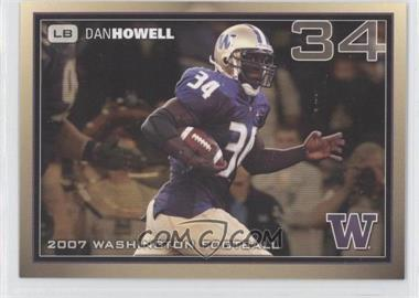 2007 Washington Huskies Team Issue #DAHO - Dan Howell