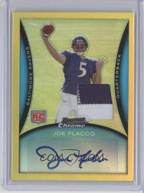 2008 Bowman Chrome Rookie Autographs Yellow Refractor Relics [Autographed] [Memorabilia] #BC61 - Joe Flacco /10 [Near Mint‑Mint+]
