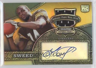 2008 Bowman Sterling - [Base] - Gold Refractor #170 - Limas Sweed /25