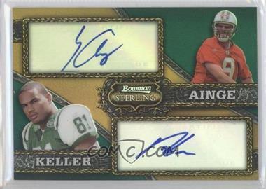 2008 Bowman Sterling Dual Autographed Gold Refractors #A-10 - Dustin Keller, Erik Ainge
