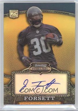 2008 Bowman Sterling Rookie Autographs Gold Refractor [Autographed] #122 - Justin Forsett /400