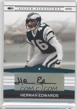2008 Donruss - Silver Signatures #SS-HE - Herman Edwards