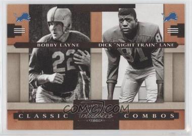 "2008 Donruss Classics - Classic Combos #CC-5 - Bobby Layne, Dick ""Night Train"" Lane /1000"