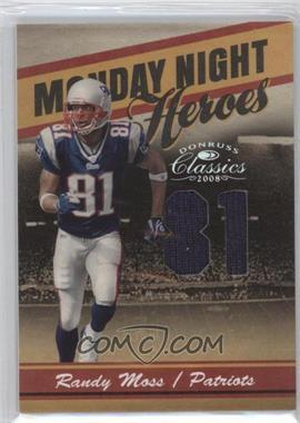 2008 Donruss Classics - Monday Night Heroes - Jersey Number Jerseys [Memorabilia] #MNH-7 - Randy Moss /81