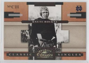 2008 Donruss Classics [???] #CS-7 - Knute Rockne /100