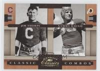 Jim Thorpe, Sammy Baugh /100