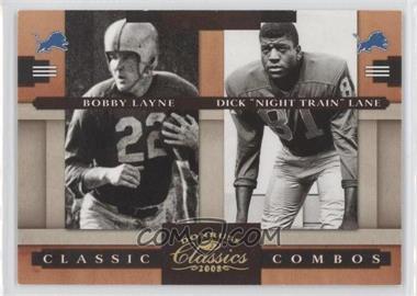 "2008 Donruss Classics Classic Combos Gold #CC-5 - Bobby Layne, Dick ""Night Train"" Lane /100"