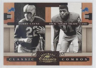 "2008 Donruss Classics Classic Combos Gold #CC-5 - Bobby Layne, Dick ""Night Train"" Lane /100"