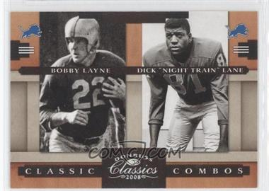 "2008 Donruss Classics Classic Combos Silver #CC-5 - Dick ""Night Train"" Lane, Bobby Layne /250"