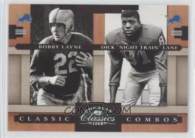 "2008 Donruss Classics Classic Combos Silver #CC-5 - Dick ""Night Train"" Lane, Bobby Layne /250"