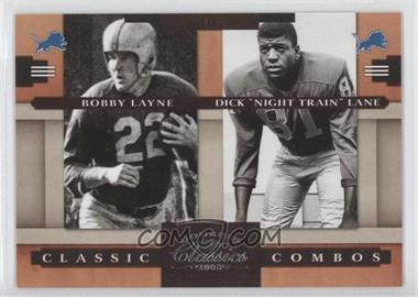 "2008 Donruss Classics Classic Combos #CC-5 - Bobby Lane, Dick ""Night Train"" Lane /1000"