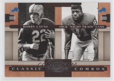"2008 Donruss Classics Classic Combos #CC-5 - Bobby Layne, Dick ""Night Train"" Lane /1000"