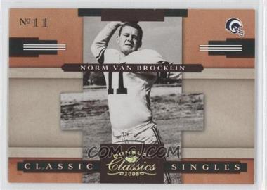 2008 Donruss Classics Classic Singles Gold #CS-21 - Norm Van Brocklin /100