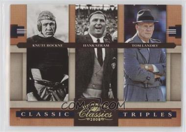 2008 Donruss Classics Classic Triples Gold #CT-1 - Hank Stram, Knute Rockne, Tom Landry /100