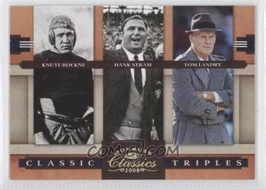2008 Donruss Classics Classic Triples Gold #CT-1 - Knute Rockne /100