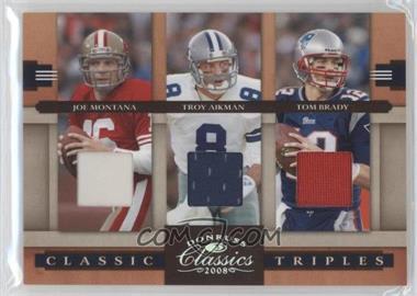 2008 Donruss Classics Classic Triples Jerseys [Memorabilia] #CT-10 - Tom Brady, Joe Montana, Troy Aikman /250