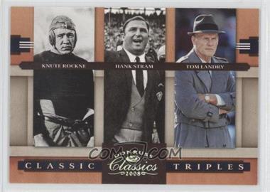 2008 Donruss Classics Classic Triples Silver #CT-1 - Knute Rockne, Hank Stram, Tom Landry /250