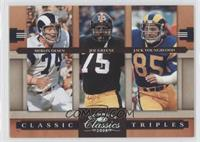 Jack Youngblood, Joe Greene, Merlin Olsen /250