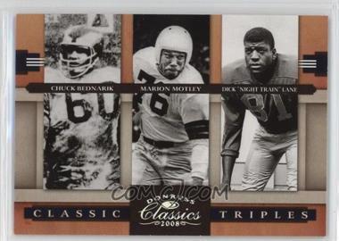 "2008 Donruss Classics Classic Triples Silver #CT-7 - Chuck Bednarik, Marion Motley, Dick ""Night Train"" Lane /250"