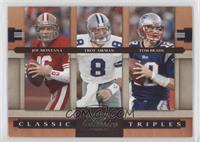 Joe Montana, Tom Brady, Troy Aikman /1000
