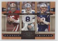 Joe Montana, Tom Brady, Troy Aikman /1000