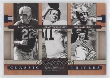 2008 Donruss Classics Classic Triples #CT-5 - Bob Waterfield, Norm Van Brocklin, Bobby Layne /1000