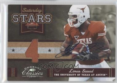 2008 Donruss Classics Saturday Stars Jersey Number Jerseys Signatures [Autographed] [Memorabilia] #SS-17 - Limas Sweed /10