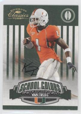 2008 Donruss Classics School Colors Signatures [Autographed] #SC-23 - Kenny Phillips /50