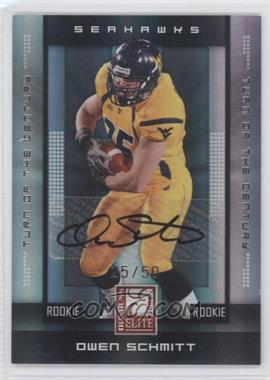 2008 Donruss Elite - [Base] - Rookies Turn of the Century Autographs [Autographed] #135 - Owen Schmitt /50