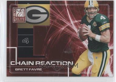 2008 Donruss Elite - Chain Reaction - Red #CR-12 - Brett Favre /200
