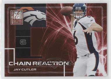 2008 Donruss Elite - Chain Reaction - Red #CR-14 - Jay Cutler /200