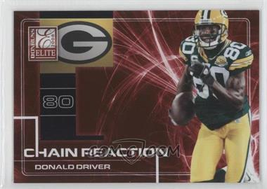 2008 Donruss Elite - Chain Reaction - Red #CR-25 - Donald Driver /200