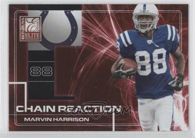 2008 Donruss Elite - Chain Reaction - Red #CR-8 - Marvin Harrison /200