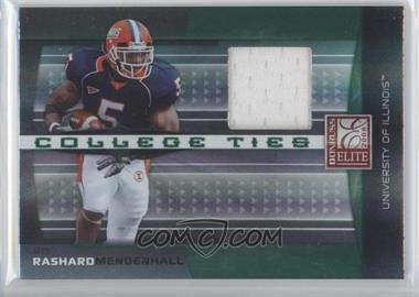 2008 Donruss Elite - College Ties - Jerseys [Memorabilia] #CT-10 - Rashard Mendenhall /150