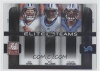 Calvin Johnson, Jon Kitna, Roy Williams /800