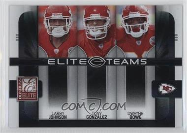 2008 Donruss Elite - Elite Teams - Black #ET-14 - Dwayne Bowe, Tony Gonzalez, Larry Johnson /800