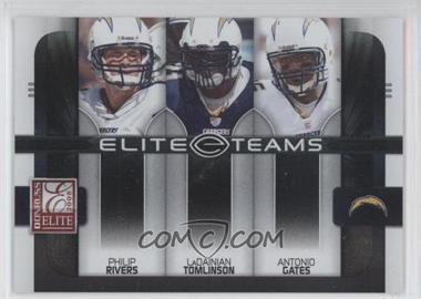 2008 Donruss Elite - Elite Teams - Black #ET-18 - Antonio Gates, LaDainian Tomlinson, Philip Rivers /800
