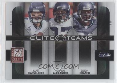 2008 Donruss Elite - Elite Teams - Black #ET-19 - Deion Branch, Matt Hasselbeck, Shaun Alexander /800