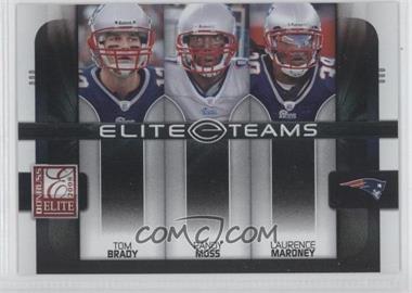 2008 Donruss Elite - Elite Teams - Black #ET-2 - Laurence Maroney, Tom Brady, Randy Moss /800