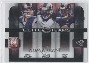 2008 Donruss Elite - Elite Teams - Black #ET-20 - Marc Bulger, Steven Jackson, Torry Holt /800