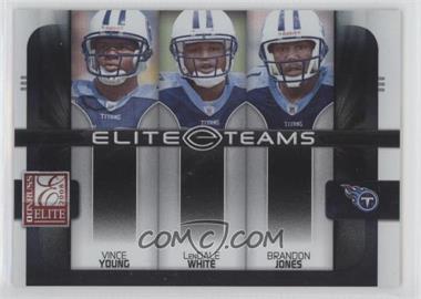 2008 Donruss Elite - Elite Teams - Black #ET-21 - Brandon Jones, LenDale White, Vince Young /800