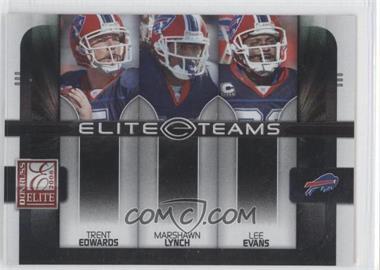 2008 Donruss Elite - Elite Teams - Black #ET-6 - Marshawn Lynch, Lee Evans, Trent Edwards /800