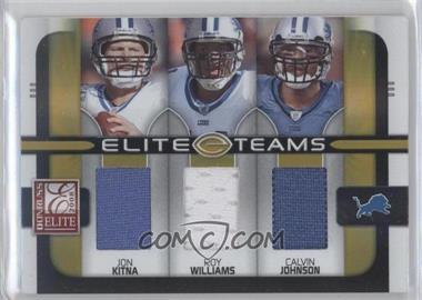2008 Donruss Elite - Elite Teams - Jerseys [Memorabilia] #ET-12 - Jon Kitna, Calvin Johnson, Roy Williams /199
